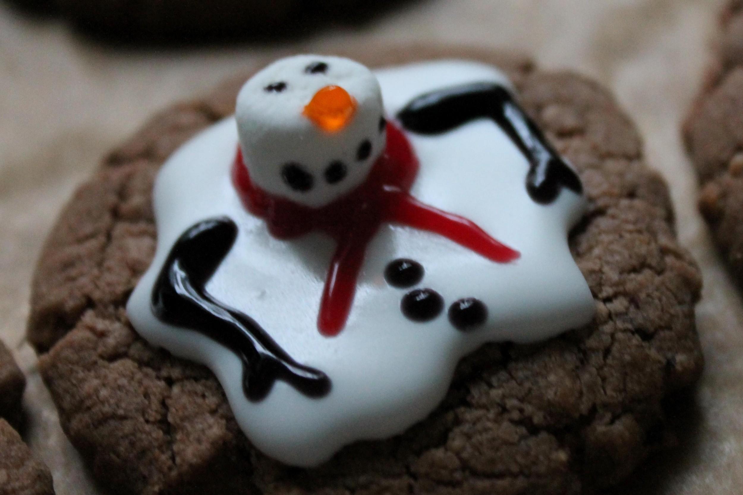 Geschmolzene Schneemann-Cookies