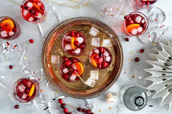Gin Honey Cranberry Spice Cocktail