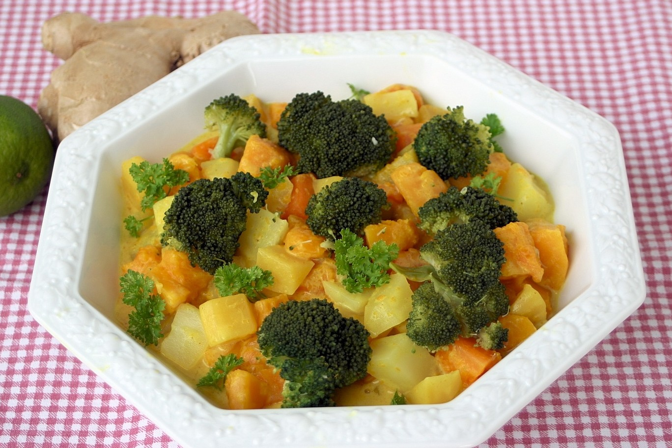 Kürbis-Kartoffelcurry