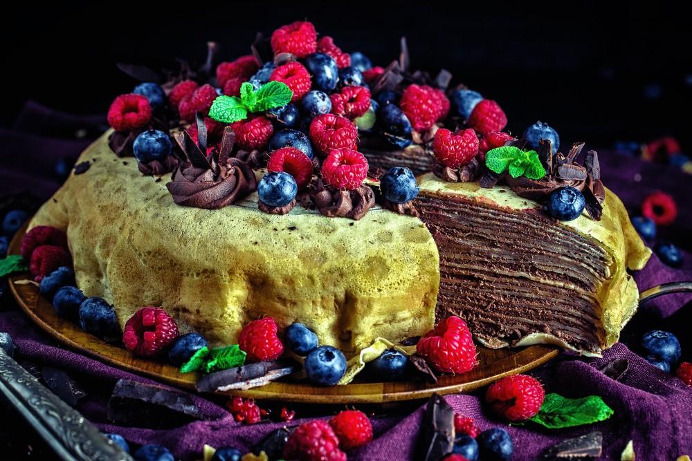 Schoko-Crepes-Torte