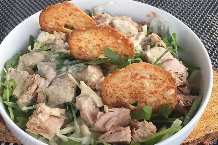 Schneller Rucola-Weißkohl-Salat