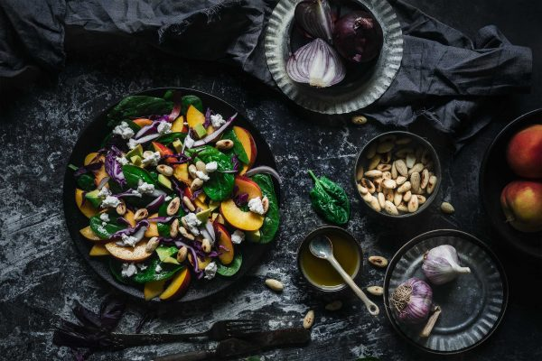 Sommer Pfirsich Salat