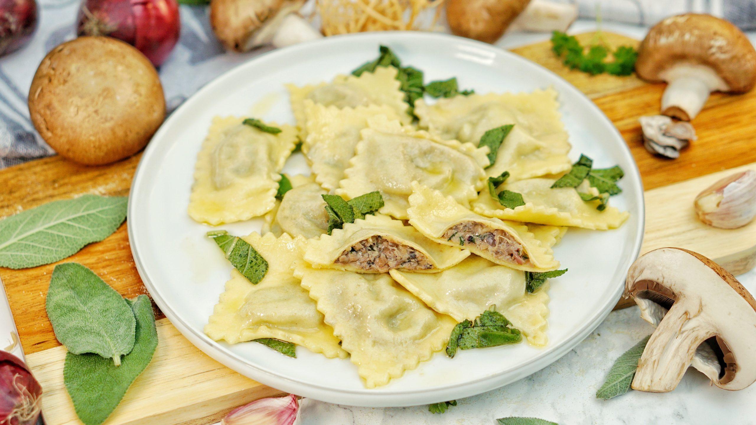 Selbstgemachte Ravioli Mit Pilzfullung Rezepte Kochen Backen Getranke Lieblingskuche